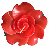 Rose-shaped Wedding spa Scented Floating Candles In Red Aromatherapy Relax Gift Set, Pack of 12
