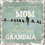 CounterArt Mom Grandma Square Stoneware Sign, 6-Inch