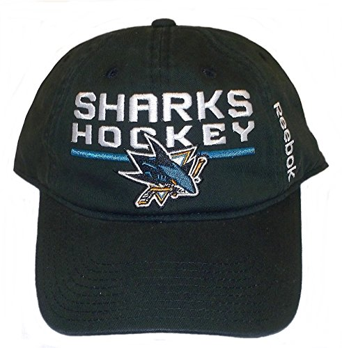 San Jose Sharks SLouch Adjustable Reebok Hat - Osfa - EW86Z