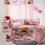 [Disney Pooh Sleep Time] 4 Pc Crib Bedding Set (Bumper)