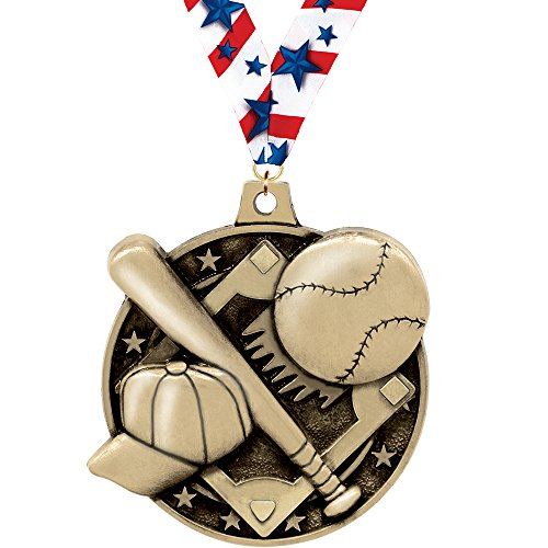 3d Diecast Medals - Crown Awards BASEBALL MEDAL - 2