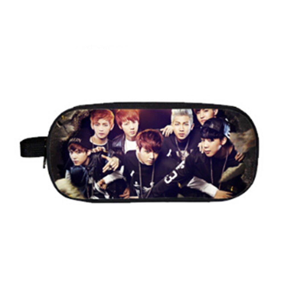 Kingmia Kpop BTS Bangtan Boys BTS Federmäppchen Großes Federmäppchen Heißer Geschenk Oxford Federmäppchen für A.R.M.Y (H03)