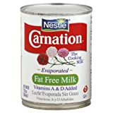 Nestle Carnation Fat Free Evaporated Milk 12 oz (Pack of 24)