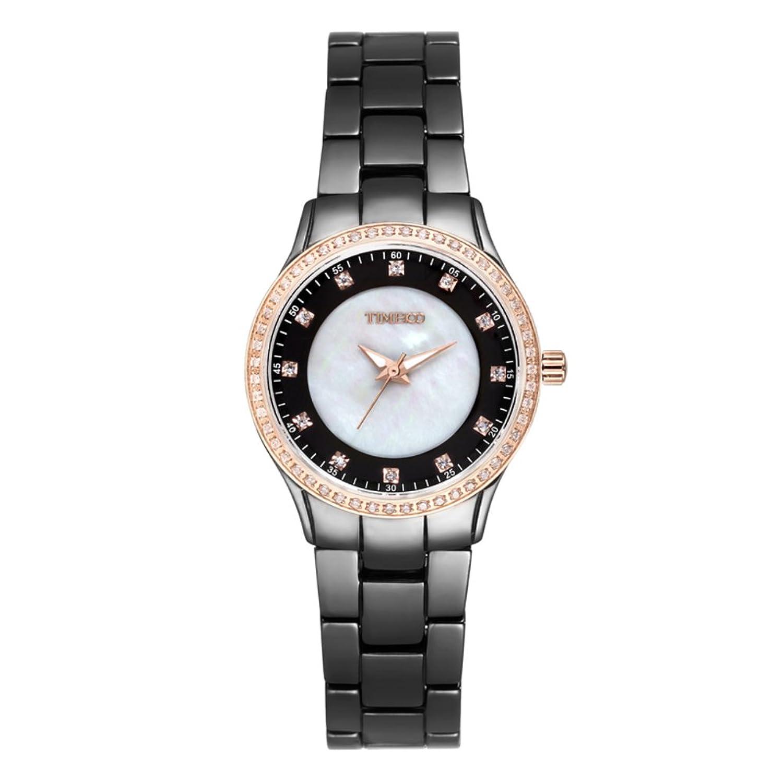 Luxus Diamant Keramikuhr-Stein Mode Freizeit-britische Damenuhren-B