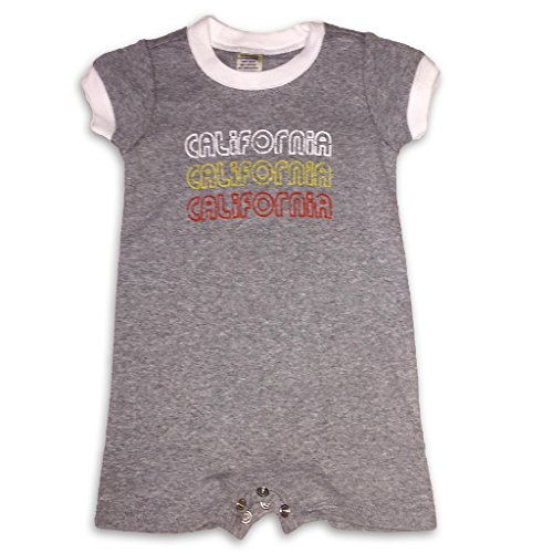 Sol Baby Retro California 3X Grey Ringer Romper