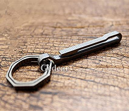 Titanium Alloy EDC Key Ring Belt Clip Quick Draw Keychain Tool