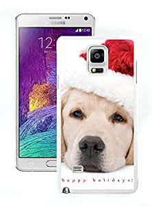 Personalized Hard Shell Christmas Dog White Samsung Galaxy Note 4 Case 6