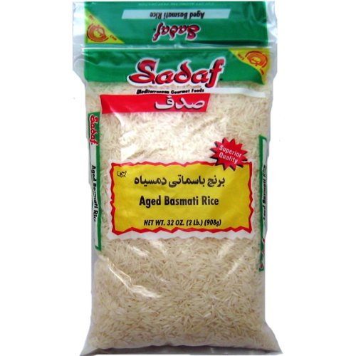 Sadaf Basmati Rice Aged, Sadaf, 2-Pounds (Pack of 6) by Sadaf