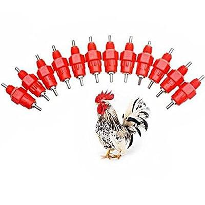 Fans 10 Pcs Water Nipple Drinker Chicken Feeder Poultry Duck Hen Screw in New