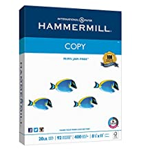 Hammermill Printer Paper, Copy Paper, 20lb, 8.5 x 11, Letter, 92 Bright - 400 Sheets / 1 Ream (150200R)