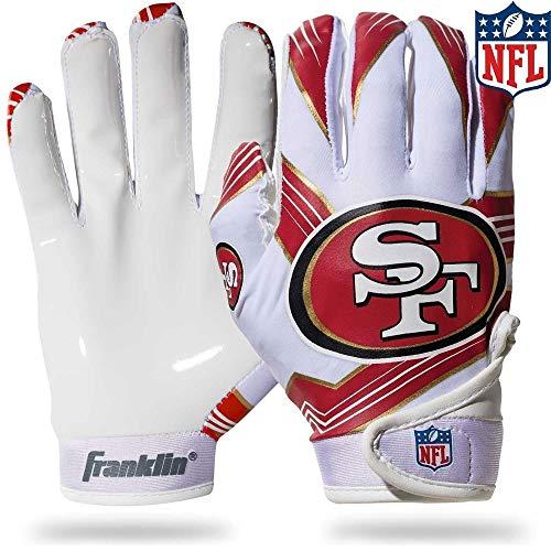 Franklin Sports NFL San Francisco 49ers Youth Football Receiver Gloves - Medium/Large -