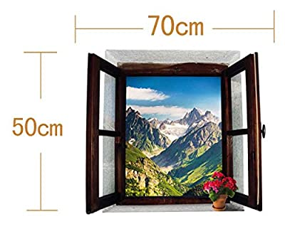 Landscape Fake Window Simulation 3D Wall Stickers for Kids Room Living Room Nursery Office Kitchen Bedroom Home Decor