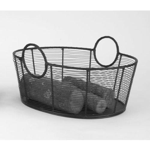 (Minuteman International Co. WI-09 Steel Wire Wood Basket)