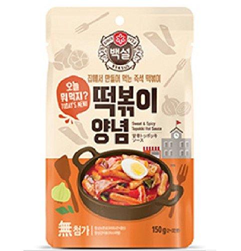 CJ Haechandle Gochujang Hot Pepper Paste (Topokki Sauce (150 g), 2 Pack)