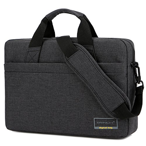 BRINCH 13.3 Inch Stylish Lightweight Business Laptop Shoulder Messenger Bag Briefcase Sleeve Case for 13-13.3 Inches Laptop/Notebook/MacBook/Ultrabook/Chromebook Computers,Black
