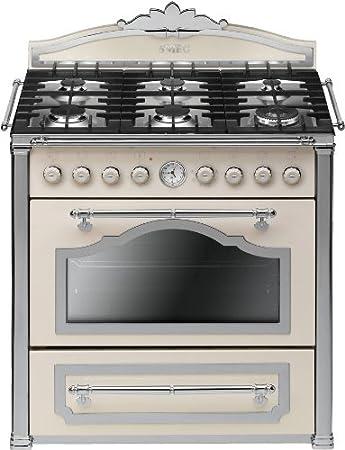 Smeg Cc9gpxd U2013 Kitchen (Freestanding, Cream, Stainless Steel, Rotary, 90L,