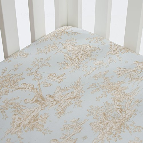 Blue Toile Nursery (Glenna Jean Central Park Fitted Sheet Toile, Blue/Chocolate/Tan/White)