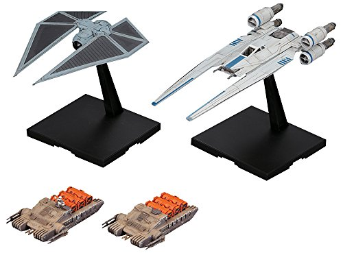 Bandai Hobby Star Wars U-Wing Fighter & Tie Striker Rogue One: A Star Wars Story 1/144