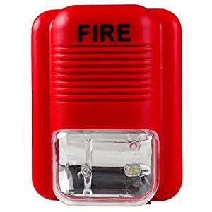 Uhppote Wired 12 24vdc Sound And Light Fire Alarm Warning