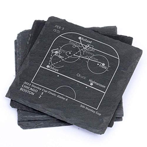 Greatest Blackhawks Plays - Slate Coasters (Set of 4)