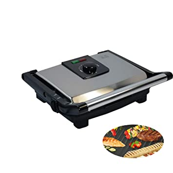 Sandwich Press Grill Panini Maker Family Health Grill Black ...