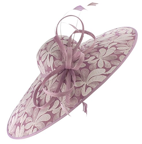 Elegance Collection Pattern Derby Saucer Headpiece in Lilac, Size: One Size