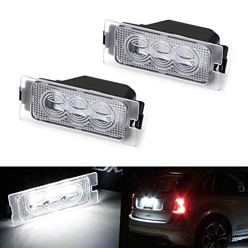 iJDMTOY OEM-Fit 3W Full LED License Plate Light Kit For 2007-14 Ford Edge, 08-12 Ford Escape & 08-11 Mercury Mariner, Powered by 3-piece Osram Xenon White LED