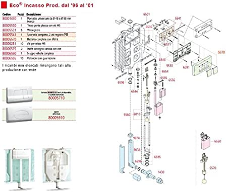 Pucci Float for toilet cistern built-in valve assembly eco sara 80006550