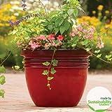 20″ Large Red Indoor/outdoor Decorative Flower Planter
