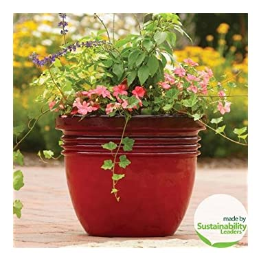 20  Large Red Indoor/outdoor Decorative Flower Planter