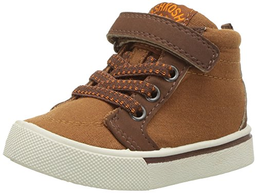 Brown Boys Shoes (OshKosh B'Gosh Boys' Bernard Casual High-Top Sneaker, Tan, 9 M US Toddler)