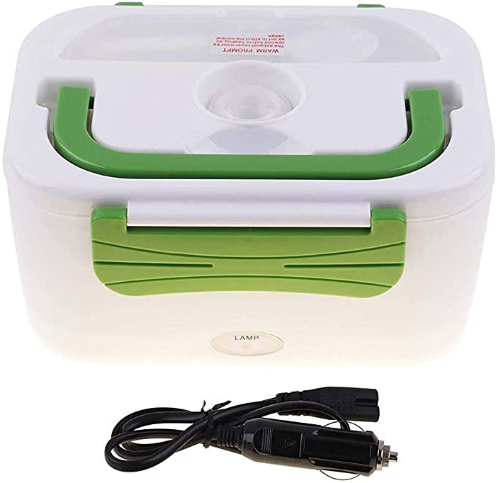Vmotor Portable 12V Car Use Electric Heating Lunch Box Bento Meal Heater Food Warmer 45W(Green)