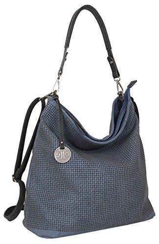 Jennifer Jones 3126, Sac pour femme à porter à l'épaule, naturel (Beige) - 3126 bleu