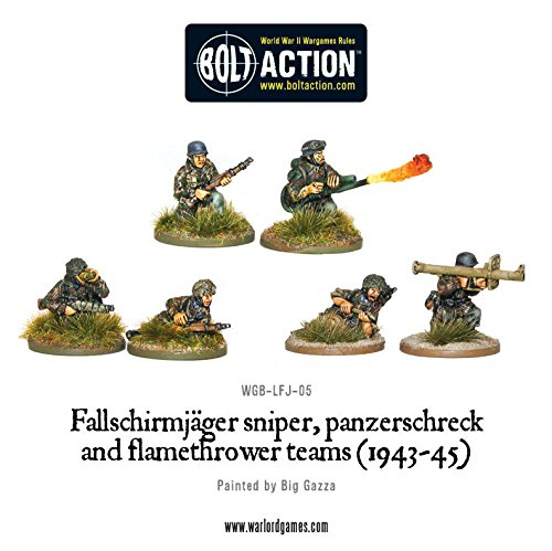 1943-45 Sniper & Flamethrower Team Miniatures by Warlord Games