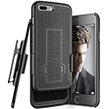 """iPhone 7 Plus 5.5"""" Belt Clip Case, Encased (Ultra Thin) Secure-fit Cover w/ ClikLock Holster (Black)"""
