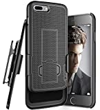 Encased iPhone 7 Plus 5.5'' Belt Clip Case, (Ultra Thin) Secure-fit Cover w/ClikLock Holster (Black)