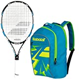 Babolat Pure Drive Junior 23″ Blue Tennis Racquet bundled with a Blue Child's Tennis Backpack