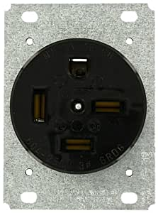 Leviton 8460 60 Amp, 250 Volt, Flush Mounting Receptacle ...