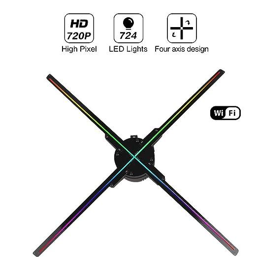 QinLL Ventilador para proyector de hologramas en 3D, con WiFi ...