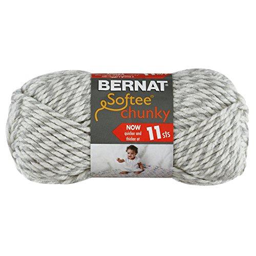 Bernat Crochet Patterns (Bernat Softee Chunky Yarn, Grey Ragg, Single Ball)