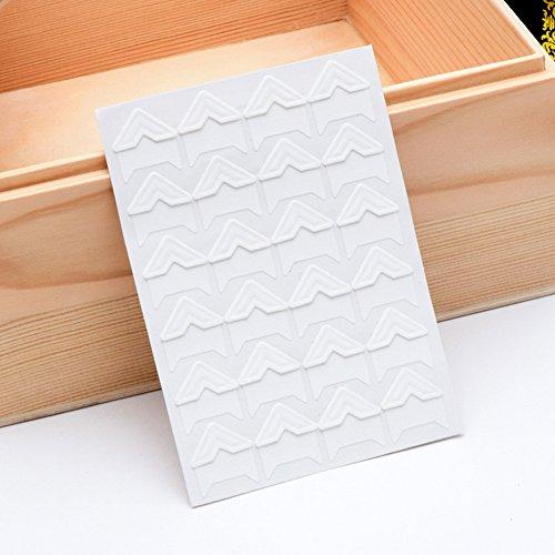 Photo Memory Fix - 5 Sheet of 120pcs Photo Corners Self Adhesive Photo Mounting Sticker Paper Corner Stickers for Scrapbooking Album Dairy(White)