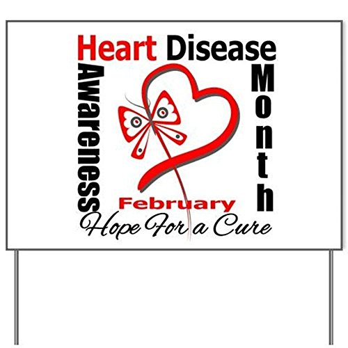 Heart Disease Month Yard SignYard Sign, Vinyl Lawn Sign, Political Election Sign]()