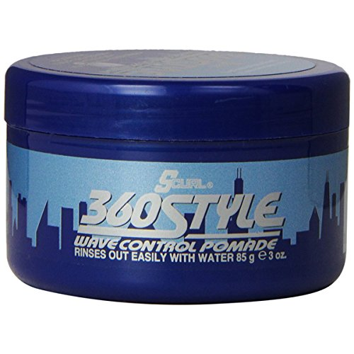 Luster's S-Curl 360 Style, Wave Control Pomade 3 oz (Control Wave Pomade)