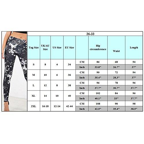 hibote Para mujer del patinador oscilación vestido de manga larga de Impreso Top B3