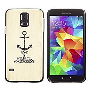 LOVE FOR Samsung Galaxy S5 Anchor Home Lifestyle Quote Motivational Sea Personalized Design Custom DIY Case Cover