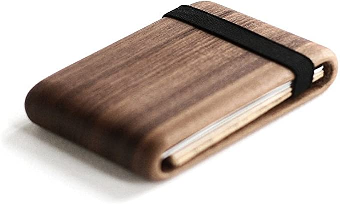 Wood Wallet, Walnut Wood w/ Elastic Band: Amazon.ca: Clothing & Accessories