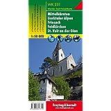 Freytag Berndt Wanderkarten, WK 231, Mittelkärnten - Gurktaler Alpen - Friesach - Feldkirchen - St. Veit an der Glan - Maßstab 1:50 000
