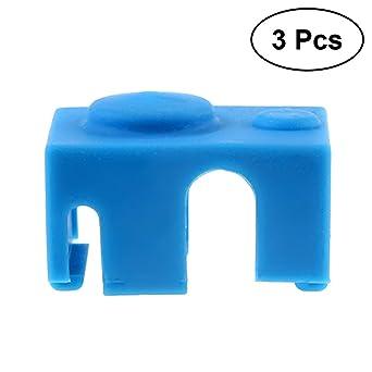 UKCOCO Impresora 3D Calentador Bloque Funda protectora de silicona Fundas Cubiertas Accesorio para E3D-V6