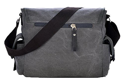 Crossed Zippers Canvas Ccaybp181123 Shoulder Voguezone009 Bags Women Gray Fashion wgg76