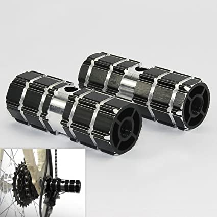 "PAIR Black 14mm//  3//8/"" Axle Foot Pegs BMX Bike Bicycle"